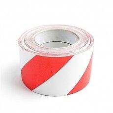 Anti-Slip Tape 150mm - Hazard Stripe Red/White
