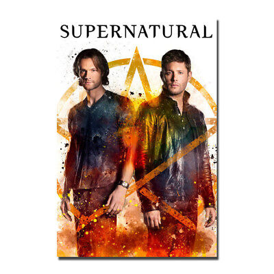 Supernatural TV series Jared Padalecki Premiere Silk Canvas Poster Print