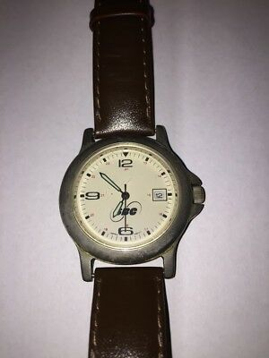 Vintage Sbc Pacific Bell Commemorative Wrist Watch Genuine Leather