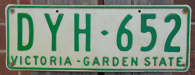 License Plate Number Plate VIC  Garden State  DYH 652
