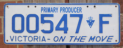 License Plate Number Plate VIC Primary Producer  00547 F