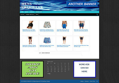 Mens Swimwear Uk Affiliate Store Website With Banners Etc + New Domain & Hosting