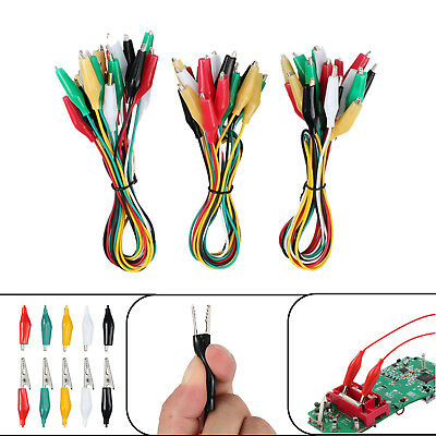 30PCS Test Lead Set Electrical Clamps Double-ended Alligator Clips 24AWG Gauge