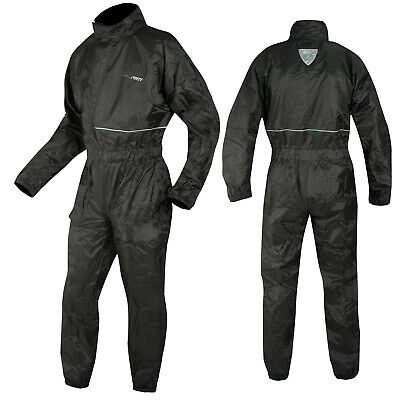 Motorcycle Motorbike Waterproof Full Body One 1 pc Rain Suit Scooter Quad