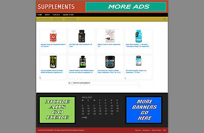 Health Supplements Supplies Store With Affiliate Website + Hosting & Free Domain