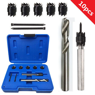 10pcs HSS 3/8'' Double Sided Rotary Spot Weld Cutter Drill Bits Hex Shank