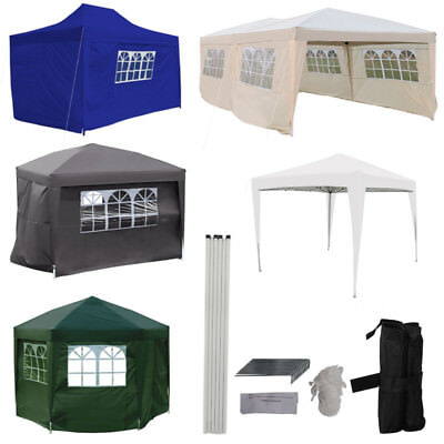 Heavy Duty Large Medium Small Pop Up Gazebo Wedding Party Tent Waterproof Dome