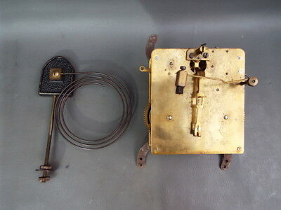 Vintage FHS mantel clock movement and chime for repair or spares