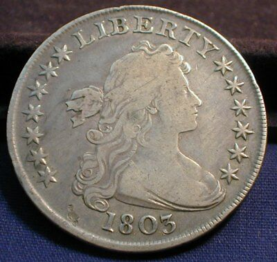 1803 Draped Bust Silver Dollar Very Fine Condition                    (MATTZMEM)