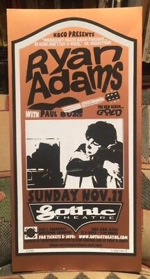 RYAN ADAMS - Gothic Theater DENVER 11/11/00 - CRYPTOGRAPHICS  Poster #22 / 70