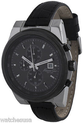 e59464b9d2a Kenneth Cole Men s NY Chronograph Black Dial Genuine Leather Watch KC1630