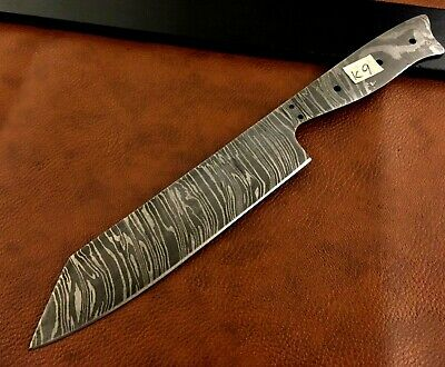HANDMADE PATTERN WELDED Damascus Steel ChefKitchen Blank BladeFull Classy Pattern Welded Steel