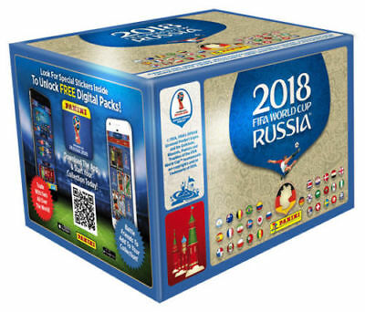 Panini WM 2018 Russia World Cup Sticker 100 Tüten Booster ohne Display