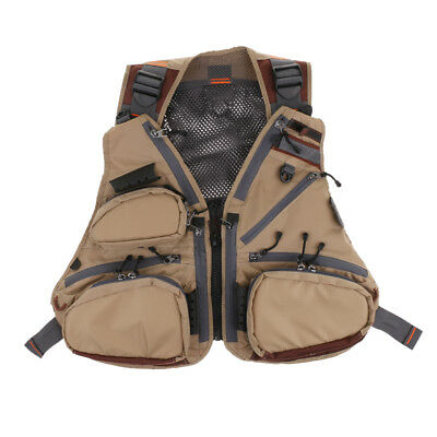 Multi-pocket Fly Fishing Vest Backpack Chest Mesh Bag Adjustable