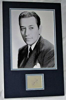 GEORGE RAFT signed matted display authentic guaranteed Lifetime COA AFTAL DEALER