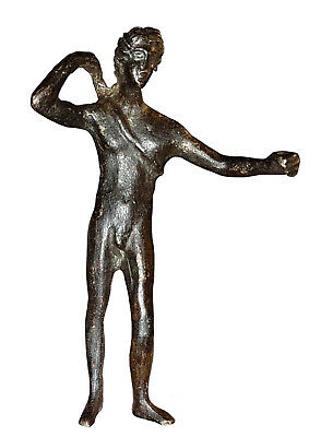 Ancient Roman Bronze Statue Of Apollo - 2Nd Century Bc - Museum Quality!!