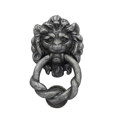Pewter Heavy Metal Lion Door Knocker External Doors