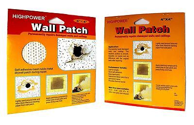 HighPower Wall Repair Patch - Stick On Mesh Dry Damaged Walls Ceiling Plastering