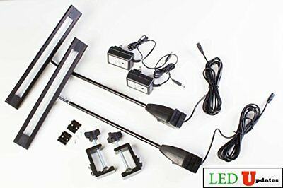 LEDupdates 2pcs Trade Show LED Light 20w for Popup Booth Exhibit back drop Pa...