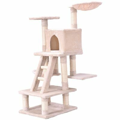 Cat Tree Scratcher Play House Condo Furniture Bed Post Pet House Play Ladder