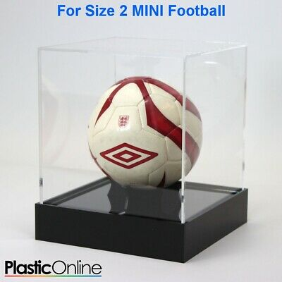 MINI Size 2 Football Display Case Football Riser Stand Signed Ball Holder