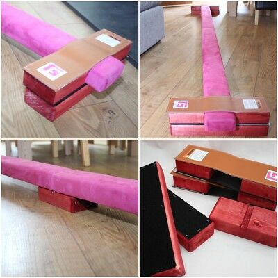 Folding Gymnastic Beam 8Ft  And Floor Stabilisers By Gym Factor Ltd