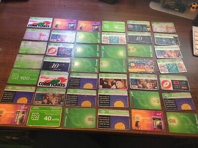 Great Collection Of 42 Vintage British Telecom Phone Cards. Nice Examples. Look!