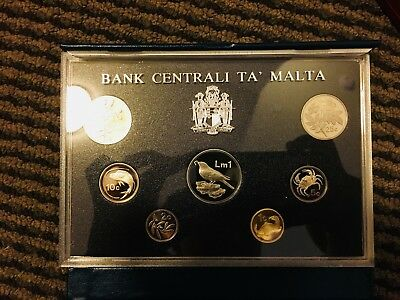 Malta 1986 Proof Set 7 Coins