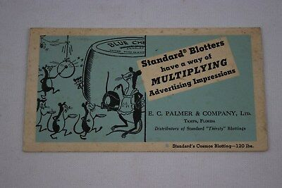 Vintage Standard Blotter Advertising Card