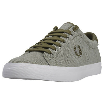 Eur Fred Hommes Chaussure Baskets Perry Neuf Olive Underspin Pique wwvpSCq