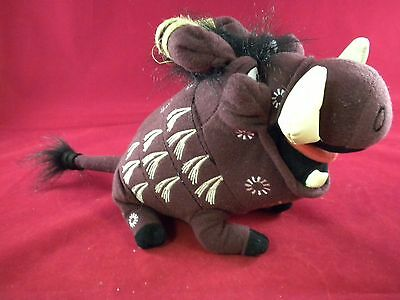 """Disney THE LION KING 10"""" PUMBAA Plush Stuffed Toy from the Broadway Musical"""