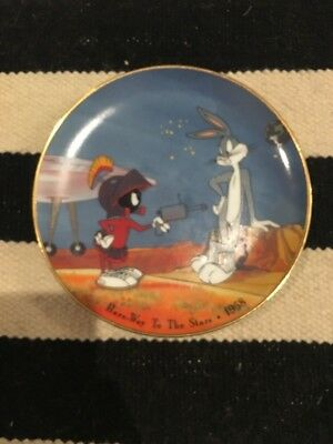 1993 Bugs Bunny, Marvin Hare Way To The Stars Warner Brothers Looney Tunes Plate