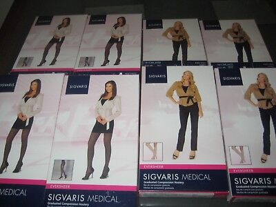 New Lot of 8 SIGVARIS Medical Comfort Medical Hosiery Tights and Knee Highs