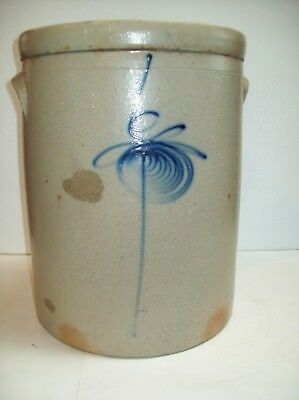 """antique"" ~ #6 Bee Sting Stoneware Crock Pottery"