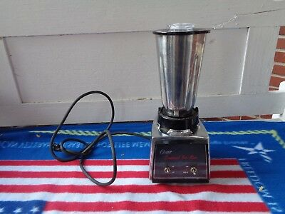 Oster Usa 1/2Hp Commercial Chrome Bar Mixer Made In Usa Drink Kitchen Blender