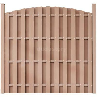 WPC Fence Panel Round Brown T5C2