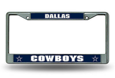 Dallas Cowboys Authentic  Metal Chrome License Plate Frame Auto Truck Car NWT