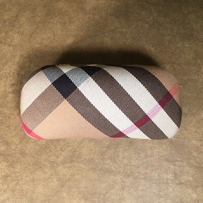 NEW! Genuine Burberry Clamshell Plaid Sunglasses Case