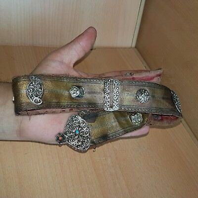 38# Old Antique Islamic / Ottoman / Persian / Balkan Belt with Silver Filigree