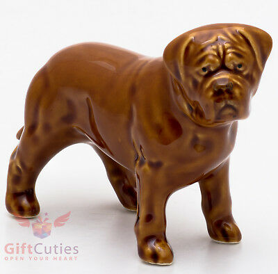 Porcelain Figurine of the Dogue de Bordeaux Mastiff dog