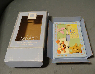 Disney Baby Pooh & Friends Soft & Fuzzy Light Switch Cover Plate,new In Box