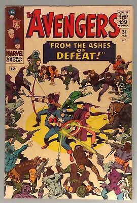 AVENGERS # 24 Silver Age 1965 MARVEL Comics Stan Lee Don Heck Thor Iron Man