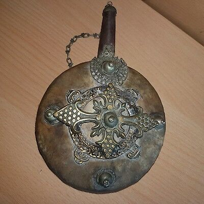 44# Old Antique Islamic Arabic Powder Flask Gunpowder