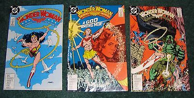 Wonder Woman 22 23 24 2nd Print variant lot DC 3 Issue Multipack 1987 2nd Series