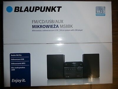 Blaupunkt ms8bk Radio Cd Usb Mp3 Micro Compact Stereo System