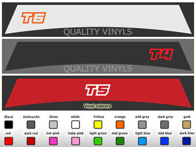 T4 T5 T6 Transporter Sunstrips  Decals Graphic Stickers Volkswagen VW SU228