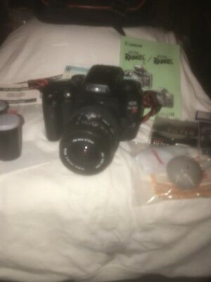 Canon EOS ELAN 7-e Camera Macro 28-80mm 1:3.5-5.6 zoom lens with all accessories