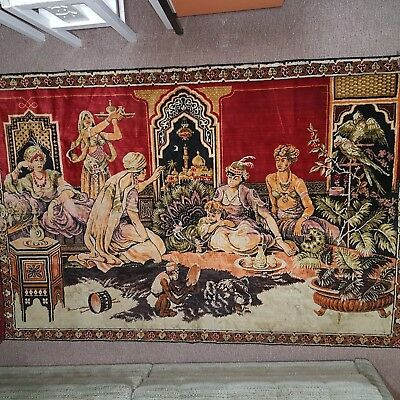 57# Old Antique Ottoman Turkish Beautiful Tapestry Wall- Hanging / Tapiz / Rug