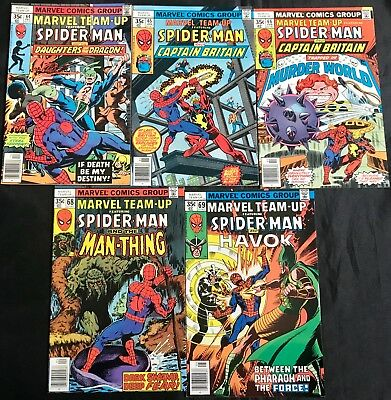 Lot Of 5 Marvel Team-Up Comics (Marvel,1977/1978) #64-66, 68, 69 Bronze Age