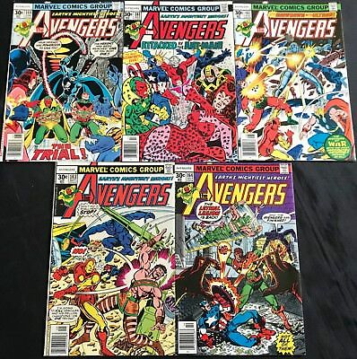 Lot Of 5 The Avengers Comics (Marvel,1977) #160-164 Bronze Age